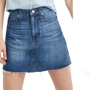 Madewell A Line Denim Mini skirt in size 25